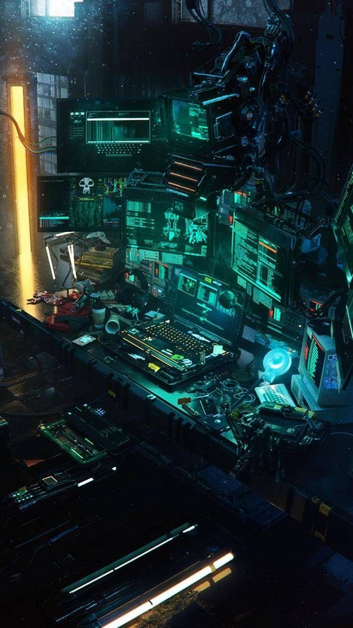 Pin on Cyberpunk Room