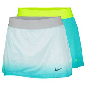 The Nike Womens Premier Maria Tennis Skirt features stylish sublimated ombre print. Skirt hem features perforated fabric for enhanced ventilation. Elastic waistband provides a comfortable fit. Built-in short provides lightweight support, coverage, and ball storage.Technical Benefits: Dri-FitFabric: 90% Polyester/ 10% SpandexLength: 11.8For information regarding sizes, please refer to our sizing chart.
