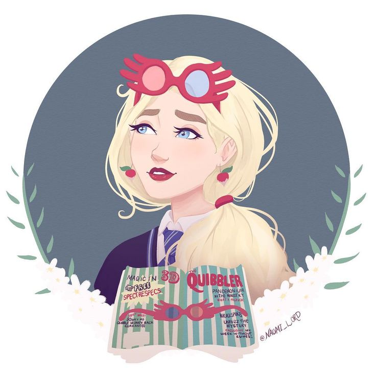 Luna Lovegood! ✨✨ Luna's such an amazing character that has such a good message
