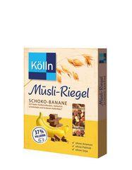 Basierend auf den leckeren Müslis, gibt es jetzt neu von Kölln Müsli-Riegel in den - mit einem hohen Vollkornanteil, Früchten und Schokolade.