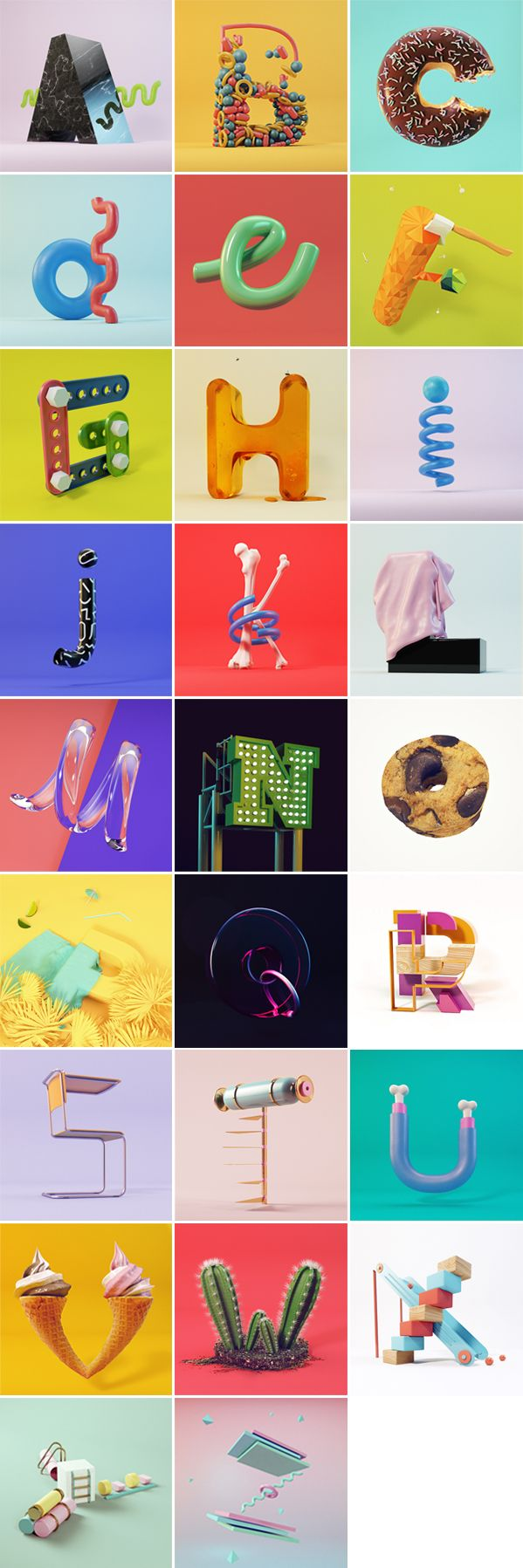 Alphabet 36 Days of type on Behance