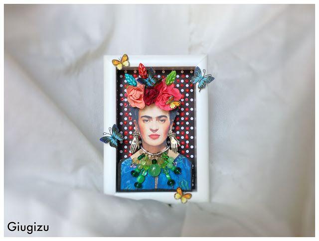 Giugizu's corner: D.I.Y. Frida Kahlo inspired framed artwork - Quadretto a rilievo fai da te ispirato a Frida Kahlo. VIDEO TUTORIAL ON MY BLOG!!