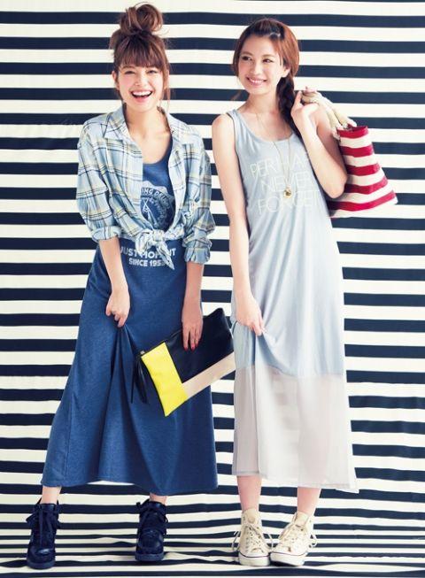 水色 × ボーダートートは爽やかマリンの大本命 | ファッション コーディネート | with online on ウーマンエキサイト