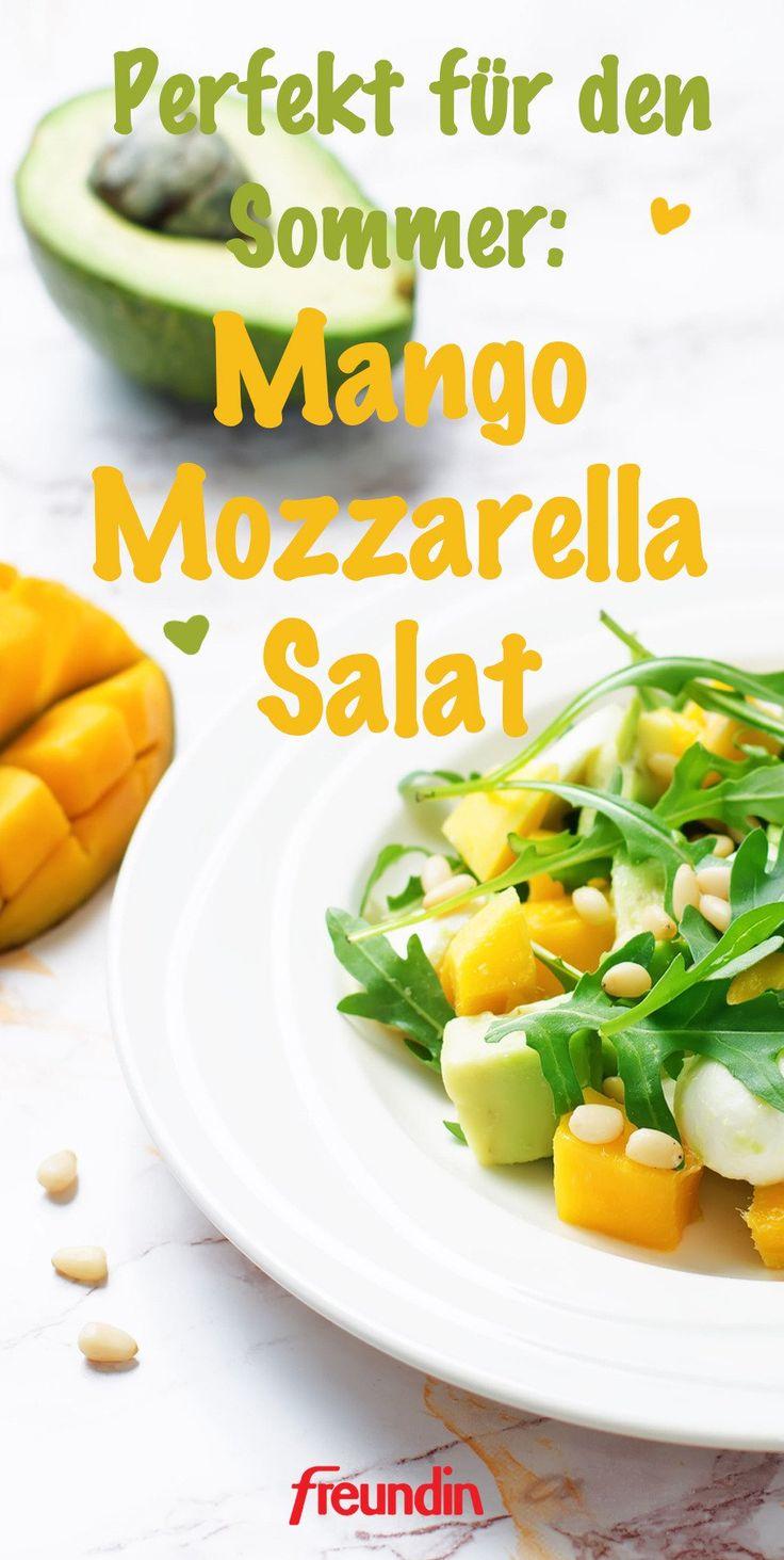 Den essen wir im Sommer: Mango-Mozzarella-Salat