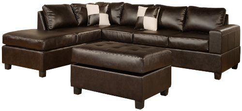 BOBKONA offer the best Bobkona Soft-Touch Reversible Bonded Leather Match 3-Piece Sectional Sofa Set, Espresso. This awesome product currently 10 unit available, you can buy it now for $1,899.00 $647.00 and usually ships in 4-5 business days