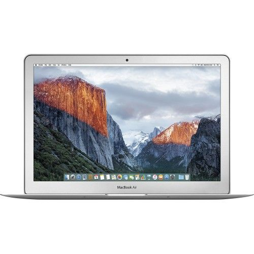 "Apple - MacBook Air® (Latest Model) - 13.3"" Display - Intel Core i5 - 4GB Memory - 128GB Flash Storage - Silver - Front Zoom"