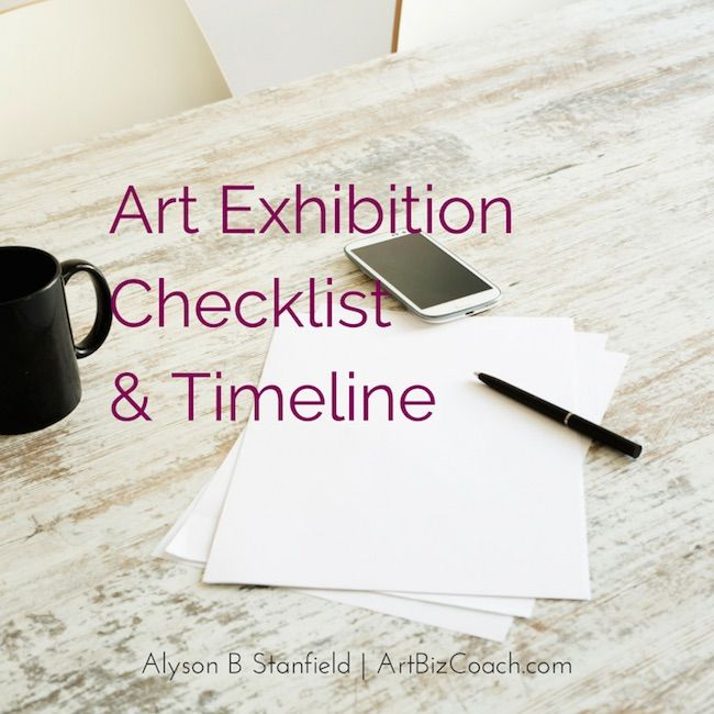 Art Exhibition Checklist and Timeline to Customize- A checklist can keep you on task for your exhibition.