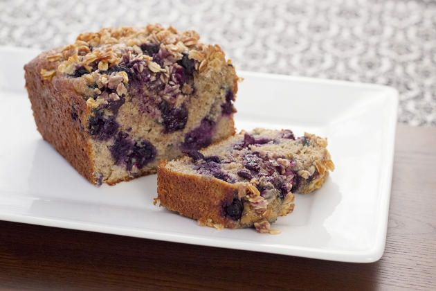 """This healthy blueberry bread is known around our house as """"Loaf"""". We make it with any kind of berry, but blueberries are pretty awesome. Click through for recipe!"""