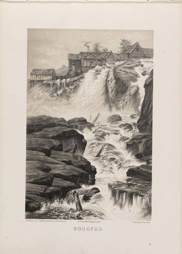 Norge fremstillet i Tegninger - Frits Thaulow - Haugfos. jpg (4360×6088)