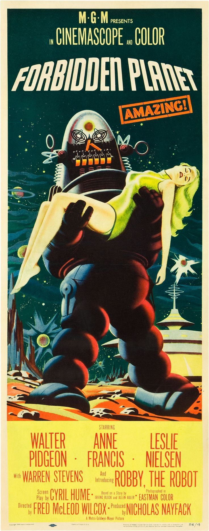 Forbidden Planet Premiered 15 March 1956 - love this film!!