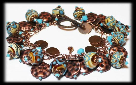 Desert Skies... Handmade Jewelry Bracelet Beaded by Fanceethat, $48.00