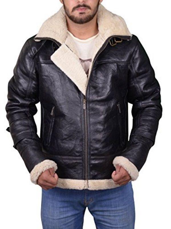 Men Removable Hood Shearling Jacket | Top Celebs Jackets