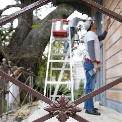 painting the exterior of the house