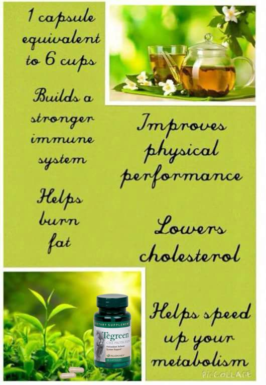 A few of the benefits of our Tea Green capsules • Supports the antioxidant defence system in the presence of excess dietary fats, cigarette smoke, alcohol intake, pollution, stress and toxins • Supports healthy cell function and helps protect cell structures • Helps relieve sleeplessness • Helps relieve nervous tension, stress and mild anxiety * 1 capsule = 6 cups Tubs of 30 or 120 capsules Send me a message for more info or to order