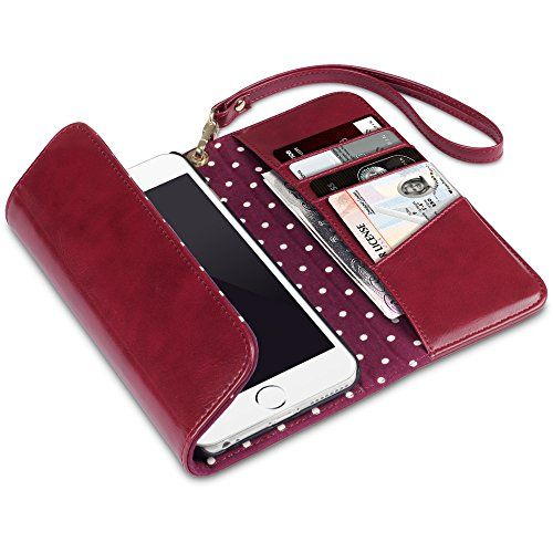 iPhone 6S Plus Case, Terrapin iPhone 6S Plus Trifold Clutch Purse Wallet with Polka Dot Interior for iPhone 6 Plus / 6S Plus - Dark Red Terrapin http://www.amazon.com/dp/B010PLZ8VY/ref=cm_sw_r_pi_dp_fLEYwb0YSJNMQ