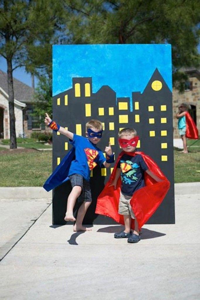 Superhero themed birthday party with SO MANY AWESOME IDEAS via Kara's Party Ideas   Cake, decor, cupcakes, games and more! KarasPartyIdeas.com #superhero #superheroparty #superherocake #partyideas #partydecor (10)