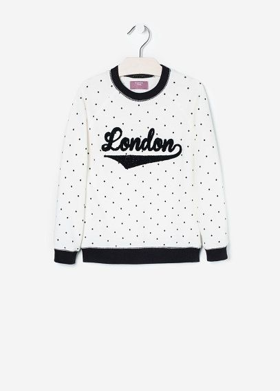 NEW - Sweatshirt met getextureerd borduursel