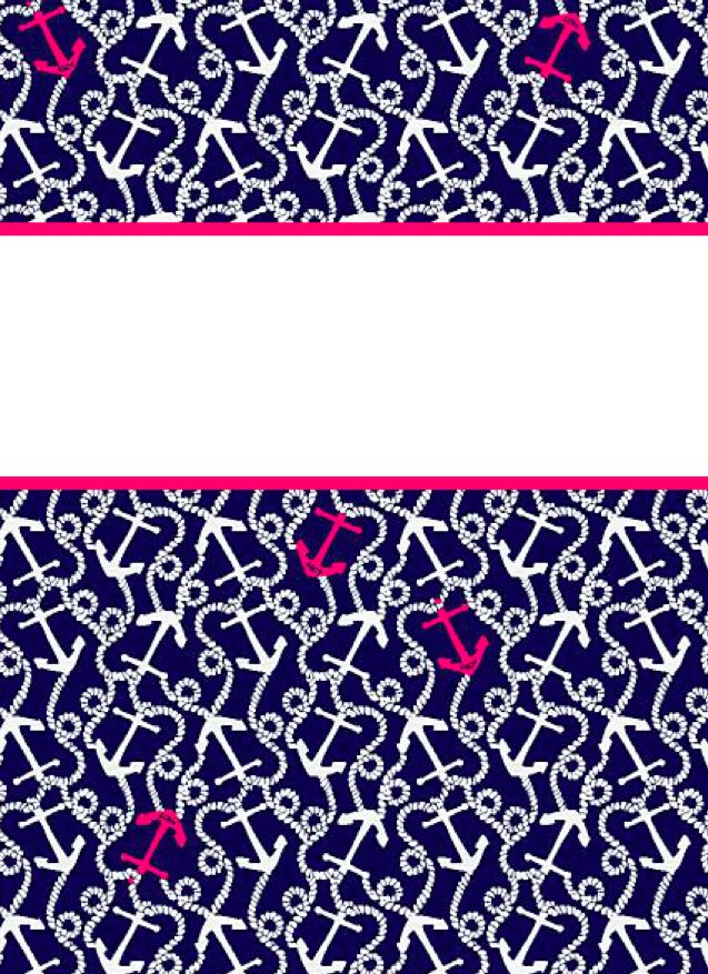 From the bottom preppy binder covers school things for Printable binder cover ideas