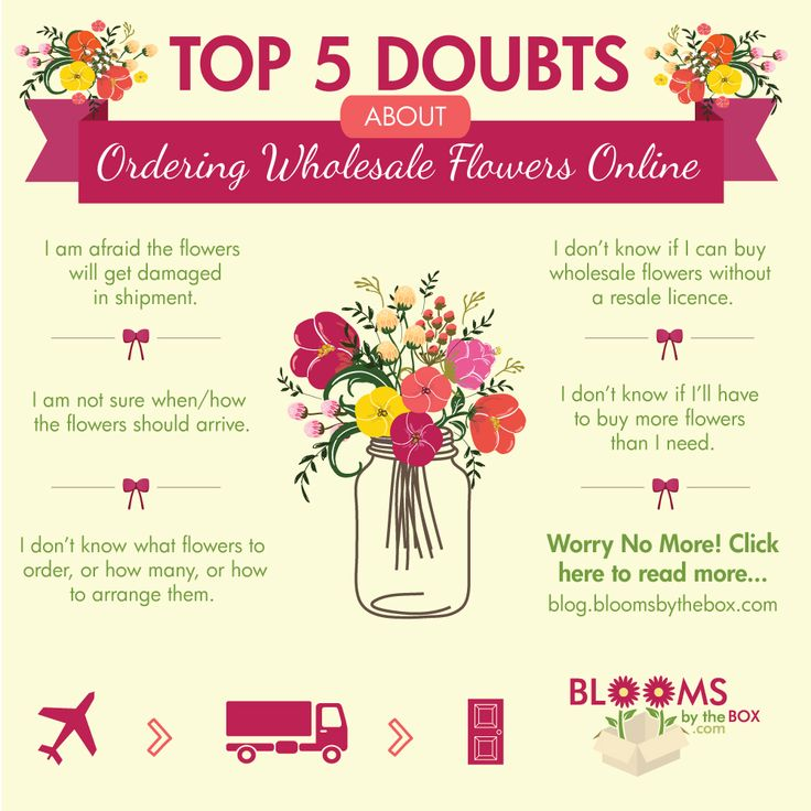 Worry no more - BloomsByTheBox squashes the proven Top 5 Doubts About Ordering Wholesale Flowers Online! #flowers #wedding