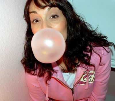 Can you blow bubbles with chewing gum or bubble gum?