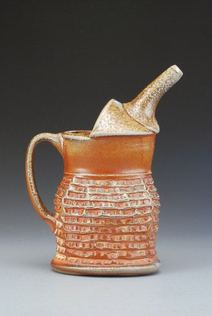 Pouring Pot Ewer wood and soda fired stoneware by joytanner, $125.00