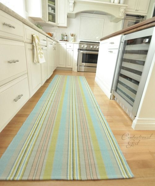 I Love Wood Floors In Kitchens And Long Rugs Like This