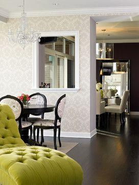 Water Front in the Windy City - traditional - dining room - chicago - by Cynthia Lynn Photography Wallpaper