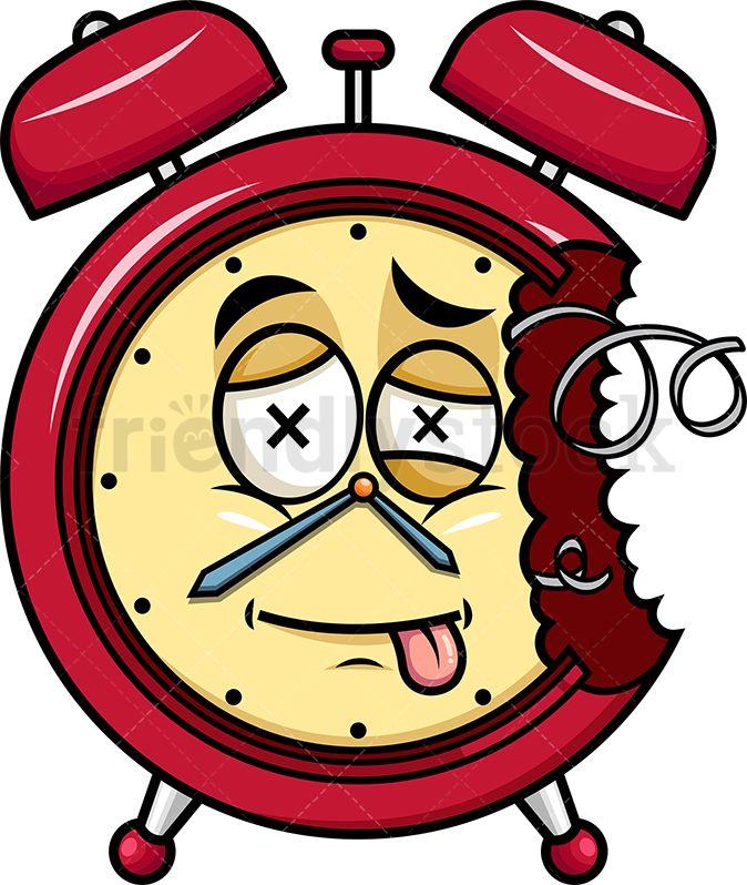 Broken Down Alarm Clock Emoji Vintage Alarm Clocks Emoji Emoji