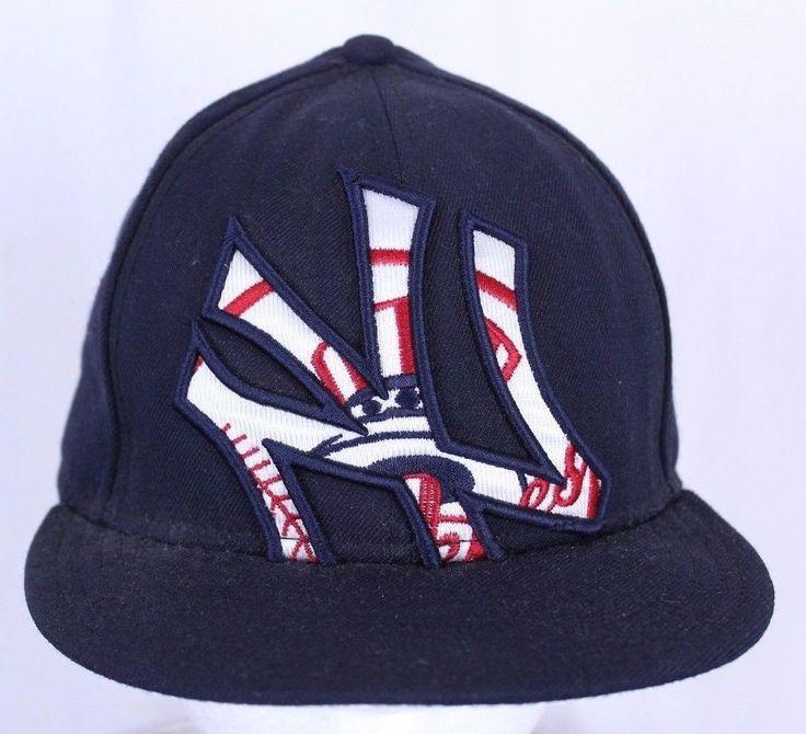 New York Yankees New Era 59FIFTY Fitted Hat Size 7 MLB Red White Blue #NewEra #BaseballCap #Yankees