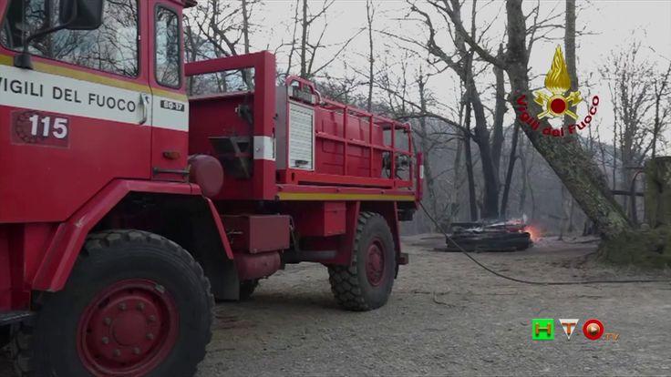 Vigili del Fuoco - Genova - Interventi per incendi su Monte Moro e Pegli...