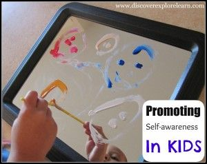 self awareness painting on mirrors