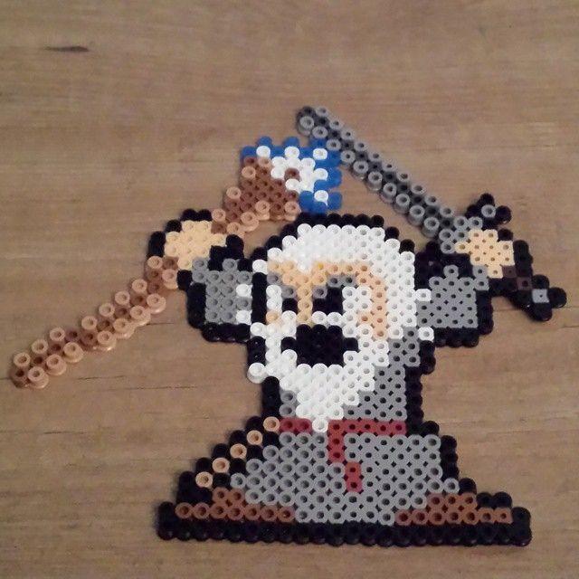 LOTR Gandalf perler beads by sugaredpiglet