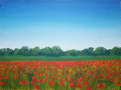 """OHH I love this!  Tuscan Poppies by Paul Hastings  Oil on canvas, 9x12"""": Oil On Canvas, Hastings Oil"""