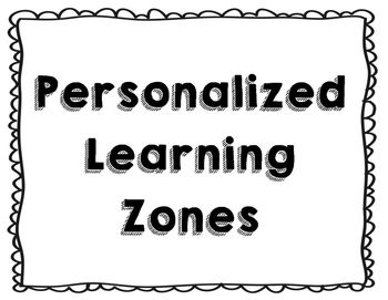 """The posters include full 8.5 x 11 and half sheet posters with voice volume, """"I can statements"""", and picture. The zones include the following: teacher zone, discovery zone, community zone, quiet zone, supplies zone, news zone, and discovery zone.For more information on the zones, read this article: http://www.edutopia.org/blog/7-learning-zones-classroom-veronica-lopez"""
