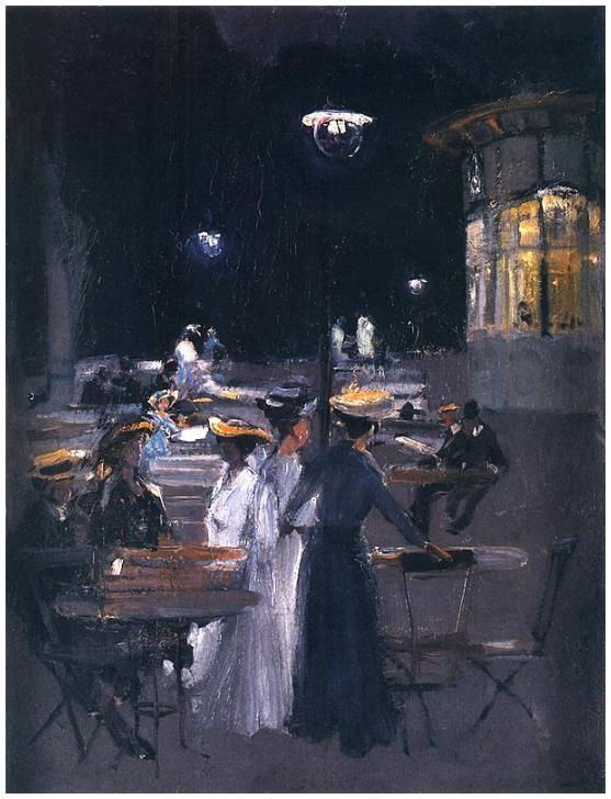 Stanisław Ludwik de Laveaux (1868-1894) – Un café de Paris, la nuit (1892-93) Musée national de Varsovie