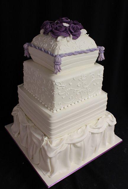 Pillow Dress square wedding by Amanda Oakleaf Cakes, via Flickr