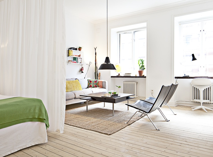 Lovely Studio Apartment SpacesStudio ApartmentsSmall ApartmentsStudio InteriorInterior IdeasCouch