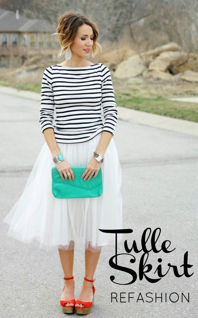 DIY Tulle Skirt Refashion by @Kilee McCaleb McCaleb McCaleb McCaleb // ONE little MOMMA on BrassyApple.com #sew