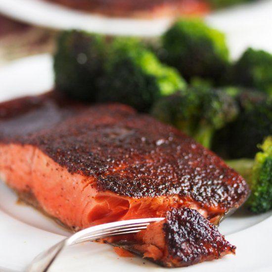 Maple Glazed Salmon- the perfect flavor combination!