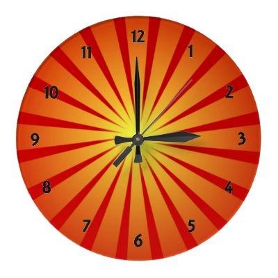 Sun Rays Wall Clock by elenaindChoo Clocks, Ray Wall, Wall Clocks, Clocks Size, Clocks Summer, Sun Rays