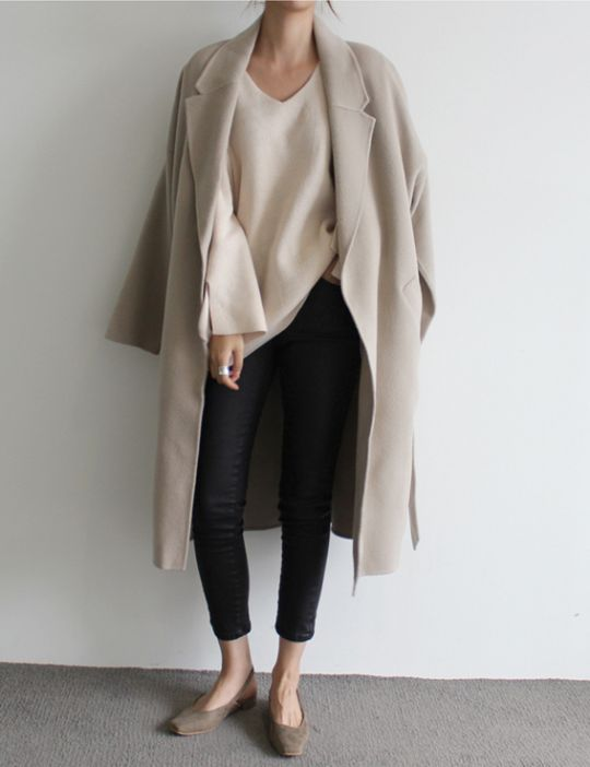 Long coat, neutrals