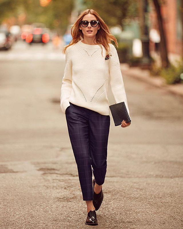 She makes it look easy. Perfectly fitting, effortlessly chic Avery pants helping. @oliviapalermo  #itsbanana