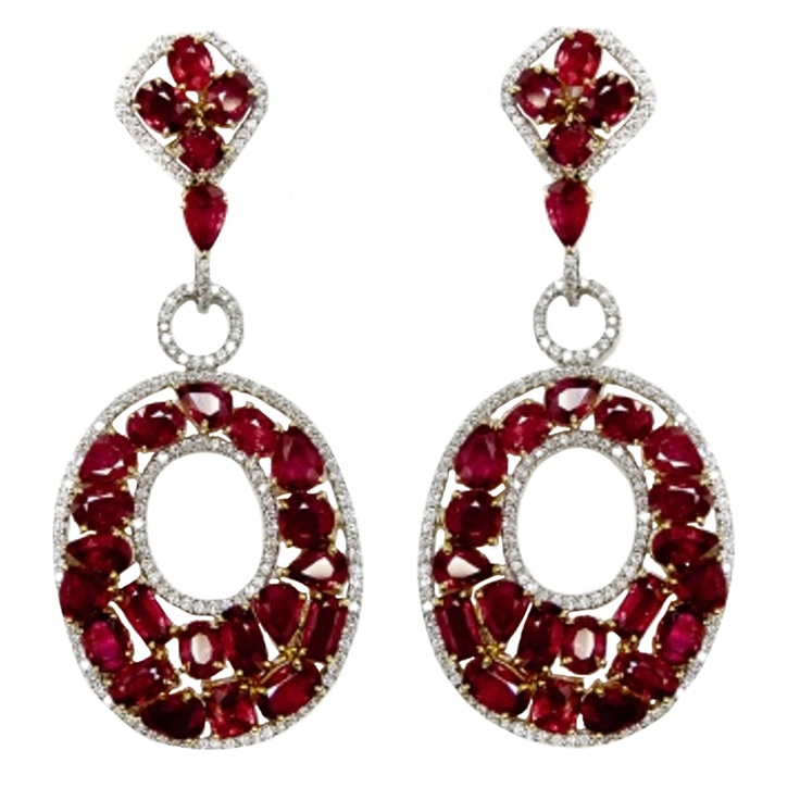 Red Diamond Chandelier Earrings: 201 Best Images About Burmese Rubies On Pinterest
