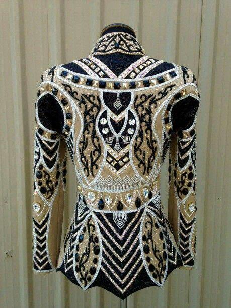 Beautiful black and gold Lindsey James showmanship jacket
