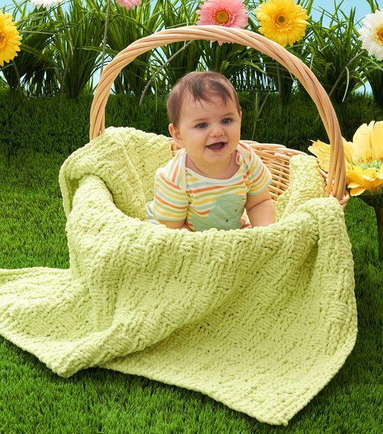Basket Weave Baby Blanket Crochet with Jo-Ann ...
