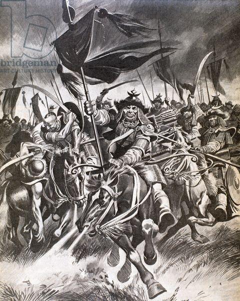 Attila (395-453), also known as Attila the Hun..- BATAILLE DE CHALONS.-2) La BATAILLE. 2.2: DEROULEMENT: 4: Aetius conseilla à Thorismond de retourner à Toulouse pour s'assurer de son royaume vis à vis de ses freres. Plus probablement, THORISMOND lui-même aurait décidé de quitter le champ de bataille, estimant que le foedus de Theodoric 1° tombait avec sa mort. Objectivement, Thorismond avait autant d'avantage qu'Aetius à ne pas anéantir les Huns.
