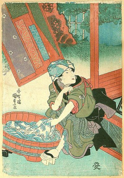 Kunisada Utagawa 1786-1865 - Washing