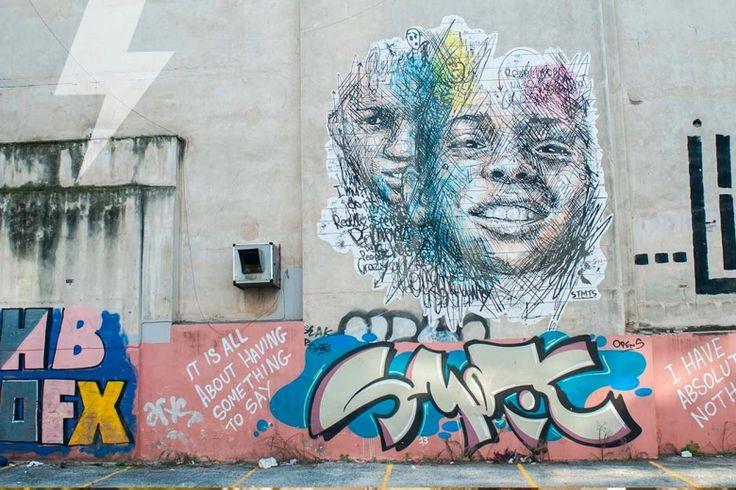 Streetart photo of the day!http://www.inexarchia.gr/street-artWheat paste στην Χαριλάου Τρικούπη.Artist: STMTS