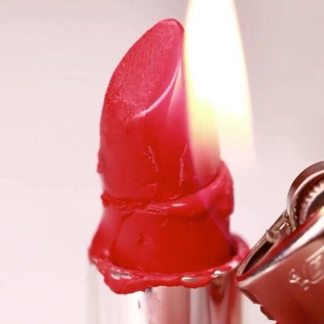 How to fix broken lipstick! ✅  Credit : @buzzfeednifty Follow @simple.nails.vids Follow @make.up.vines  Tag a friends & Comment 💁🏼 #diy #doityourself  #ideas #inventions #diyfun #creative #videos #lifehacks #diyfuture #tutorials