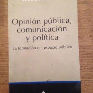 """""""Opinión pública, comunicación y política"""" de Cándido Monzón por 5€ #libros #comunicacion"""